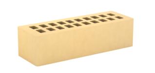 Кирпич лицевой золотистый, гладкий 0,7НФ (Тербунский гончар)