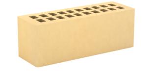 Кирпич лицевой золотистый, гладкий 0,9НФ (Тербунский гончар)