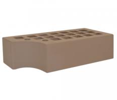 Кирпич фасонный КФ-1 коричневый 1,4НФ (ЖКЗ)