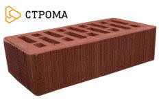 Кирпич лицевой бордо, Бархат 1НФ (Строма)