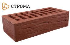 Кирпич лицевой бордо, Рустик 1НФ (Строма)