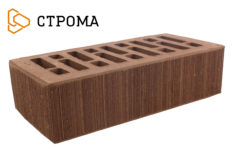 Кирпич лицевой коричневый, Бархат 1НФ (Строма)