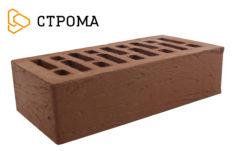 Кирпич лицевой коричневый, Рустик 1НФ (Строма)