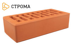 Кирпич лицевой красный, гладкий 1НФ (Строма)