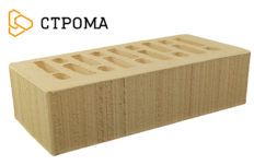 Кирпич лицевой солома, Бархат 1НФ (Строма)