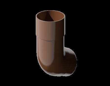 ПВХ колено трубы 135º, коричневый