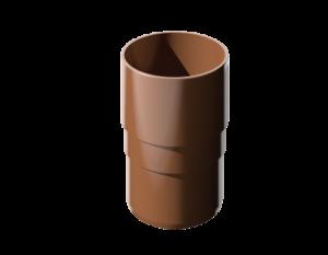 ПВХ муфта трубы, коричневый
