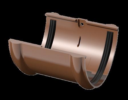 ПВХ соединитель желоба, коричневый