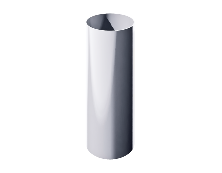 ПВХ водосточная труба, белый (1,5 м)