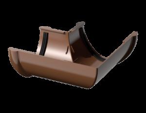 ПВХ угол желоба 90º, коричневый