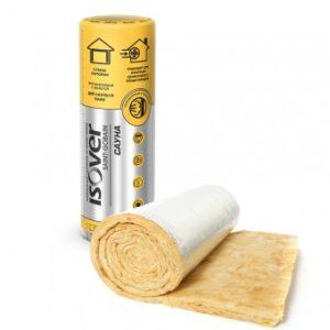 Утеплитель ISOVER Сауна 100 мм, рулон 7,5 м² (0,75 м³)