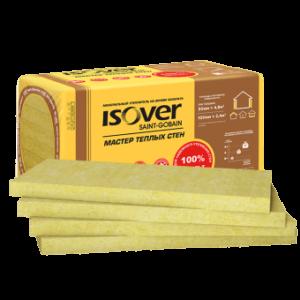 Утеплитель ISOVER Мастер Тёплых Стен 100 мм, 2,4 м² (0,24 м³)