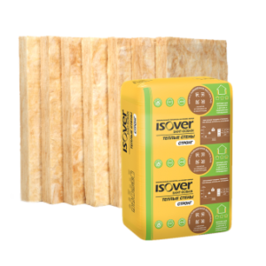 Утеплитель ISOVER Тёплые Стены Стронг 100 мм, 3,05 м² (0,305 м³)