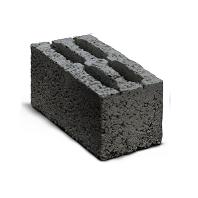Керамзитобетонный четырехпустотный стеновой блок